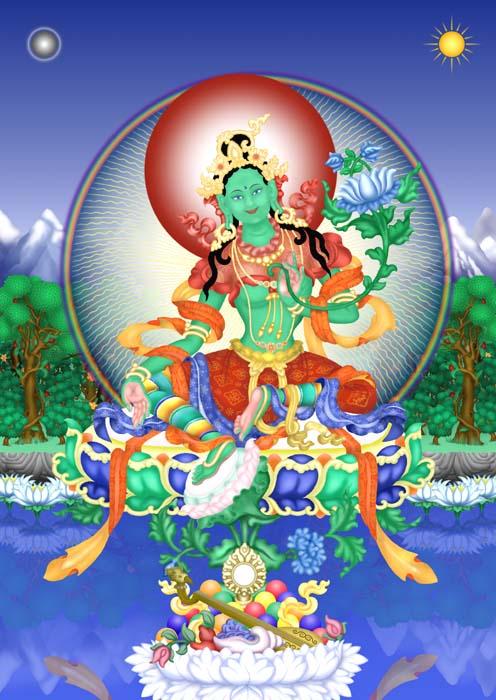 טארה ירוקה,  בודהיסטווה אישה, המסמלת בבודהיזם הטיבטי את הפעולה הנכונה בעולם